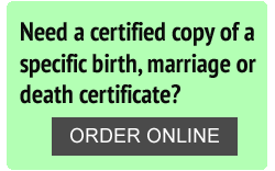 Order Birth, Marriage, Death Certificates Online